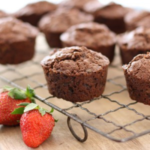 chocolate zucchini and bran muffins